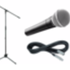 Shure, Tripod boom mic stand and a cable
