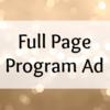 Full Page Program Ad