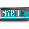 DONATE $50 - Receive a Silver Plated Brass Pin designed by Leisure Life NYC + the #TBT Myrtle Avenue Postcard Set